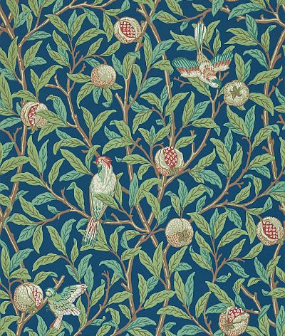 Bird Pomegranate Green Blue By Morris Wallpaper 212540