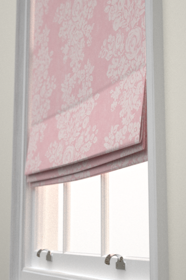 pom blinds blind pink trim with pin roman stars