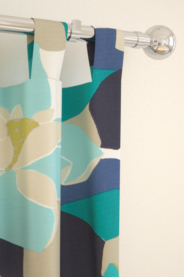 Diva Blue Green Tab Top Curtains By Scion Brewers Home
