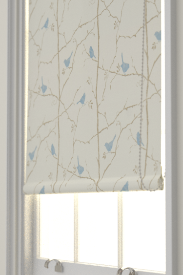 Dawn Chorus Mineral Blue Roller Blinds By Sanderson