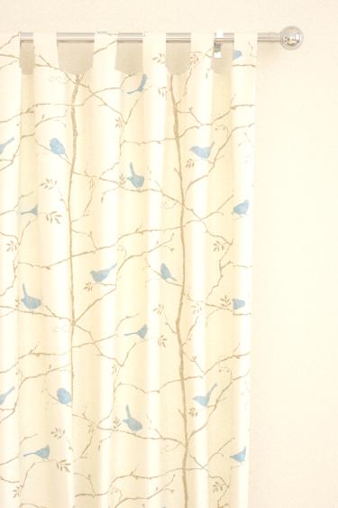 Dawn Chorus Mineral Blue Tab Top Curtains By Sanderson
