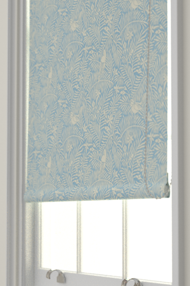 Calico Birds Mineral Blue Roman Blinds By Sanderson