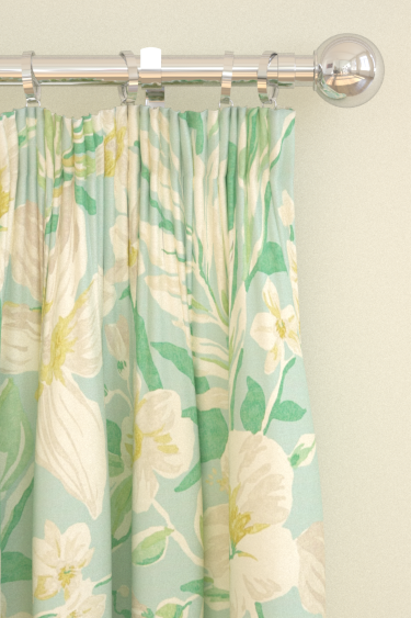 Samaya Linden/Aqua Eyelet Curtains by Sanderson : Brewers Home