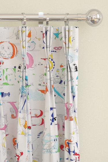 Alphabet Zoo Rainbow Brights Pinch Pleat Curtains by Sanderson ...