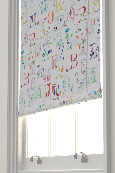 Alphabet Zoo Rainbow Brights Roller Blinds By Sanderson