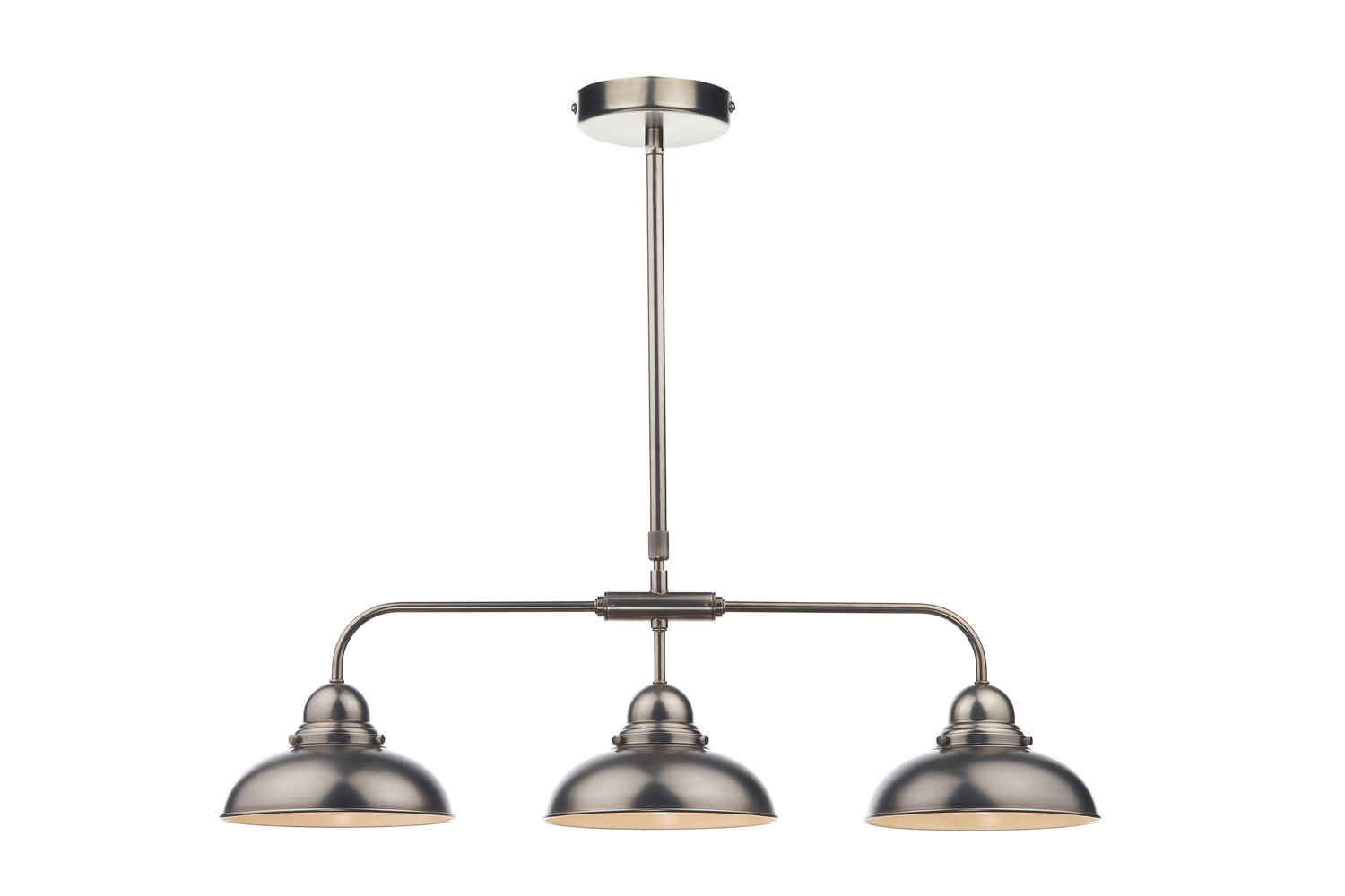dynamo 3 light bar ceiling light pendant antique chrome by