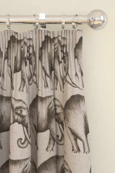 Savanna Elephant Grey Pencil Pleat Curtains By Harlequin Brewers Home