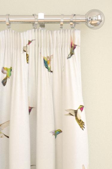 Amazilia Flamingo Papaya Apple Pinch Pleat Curtains By
