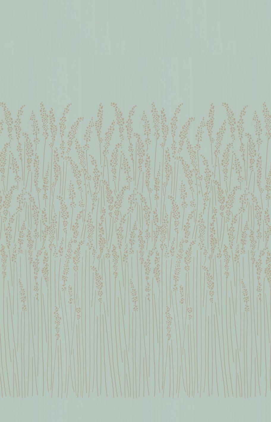 Feather Grass Blue By Farrow Ball Wallpaper Brewers Home