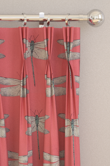 Demoiselle Coral Mint Pinch Pleat Curtains By Harlequin