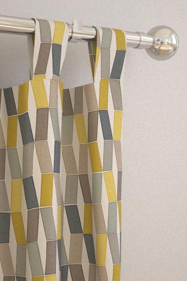 Flip Lemon Slice Tab Top Curtains by Natasha Marshall : Brewers Home