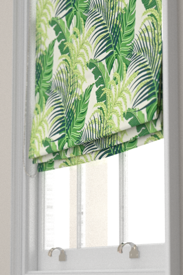Manila Green Ivory Roman Blinds By Sanderson Brewers Home