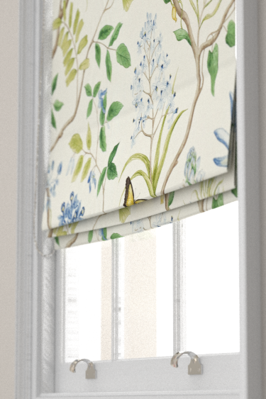 Clementine Delft Blue Roman Blinds By Sanderson Brewers Home