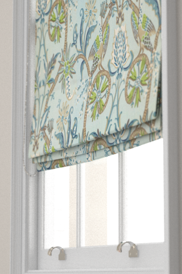 Peacock Garden Blue And Green Roller Blinds By Thibaut