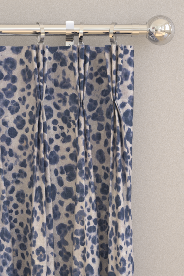 Panthera Navy Pinch Pleat Curtains By Thibaut Brewers Home