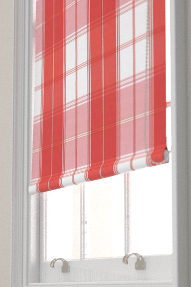 New England Plaid Raspberry Roller Blinds By Thibaut Brewers Home