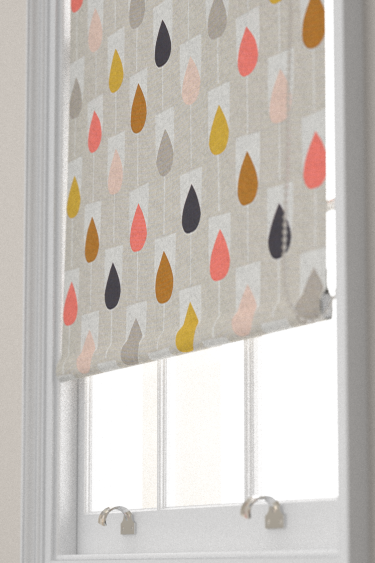 Sula Flamingo Honey And Linen Roman Blinds By Scion