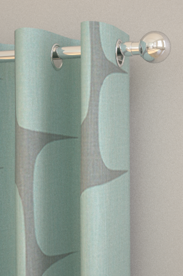Lohko Mist And Graphite Eyelet Curtains By Scion Brewers