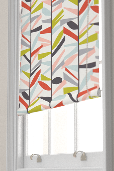 Tetra Spice Rose And Graphite Roller Blinds By Scion