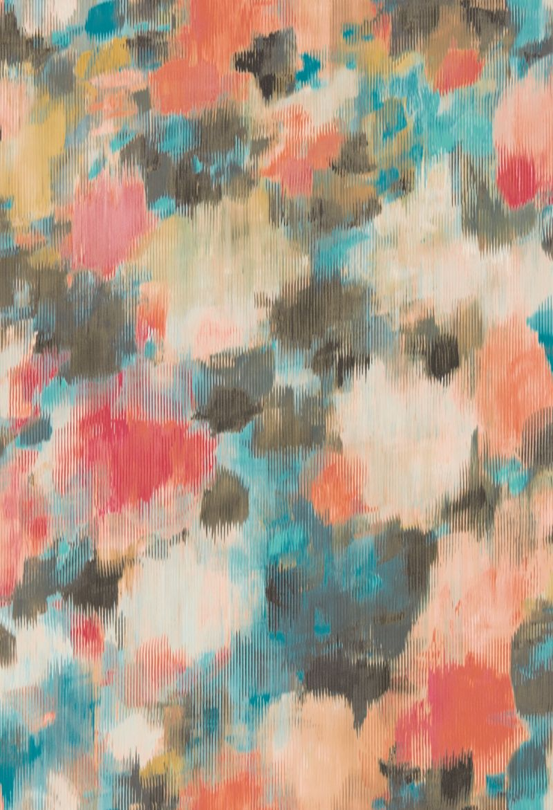 Exuberance Coral Turquoise By Harlequin Wallpaper