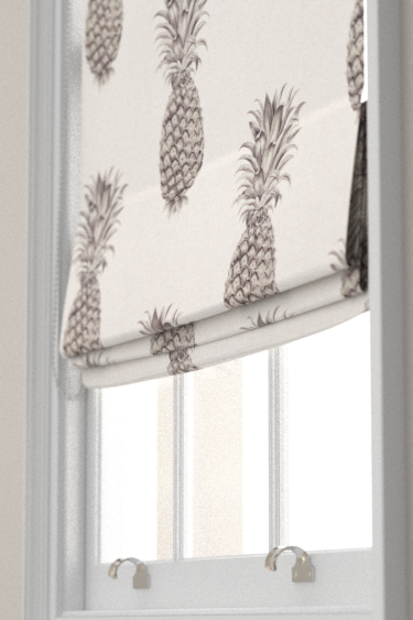 Pineapple Royale Graphite Linen Roman Blinds By