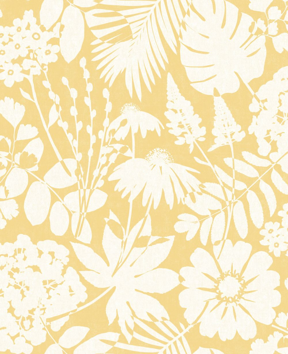 Bold Floral Mustard By Albany Wallpaper Brewers Home