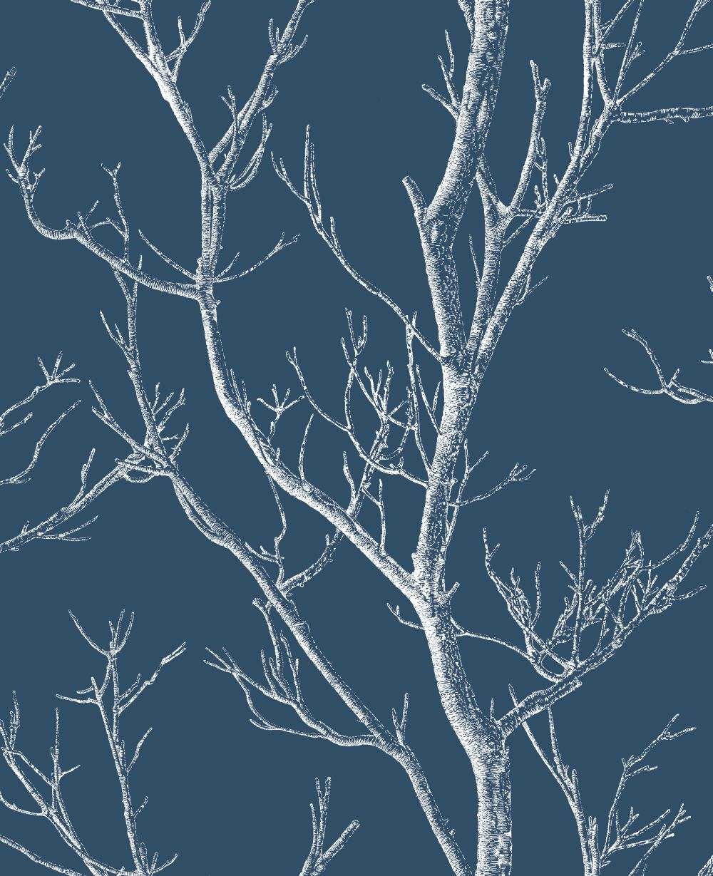 Silhouette Tree Navy By Albany Wallpaper Cb42136