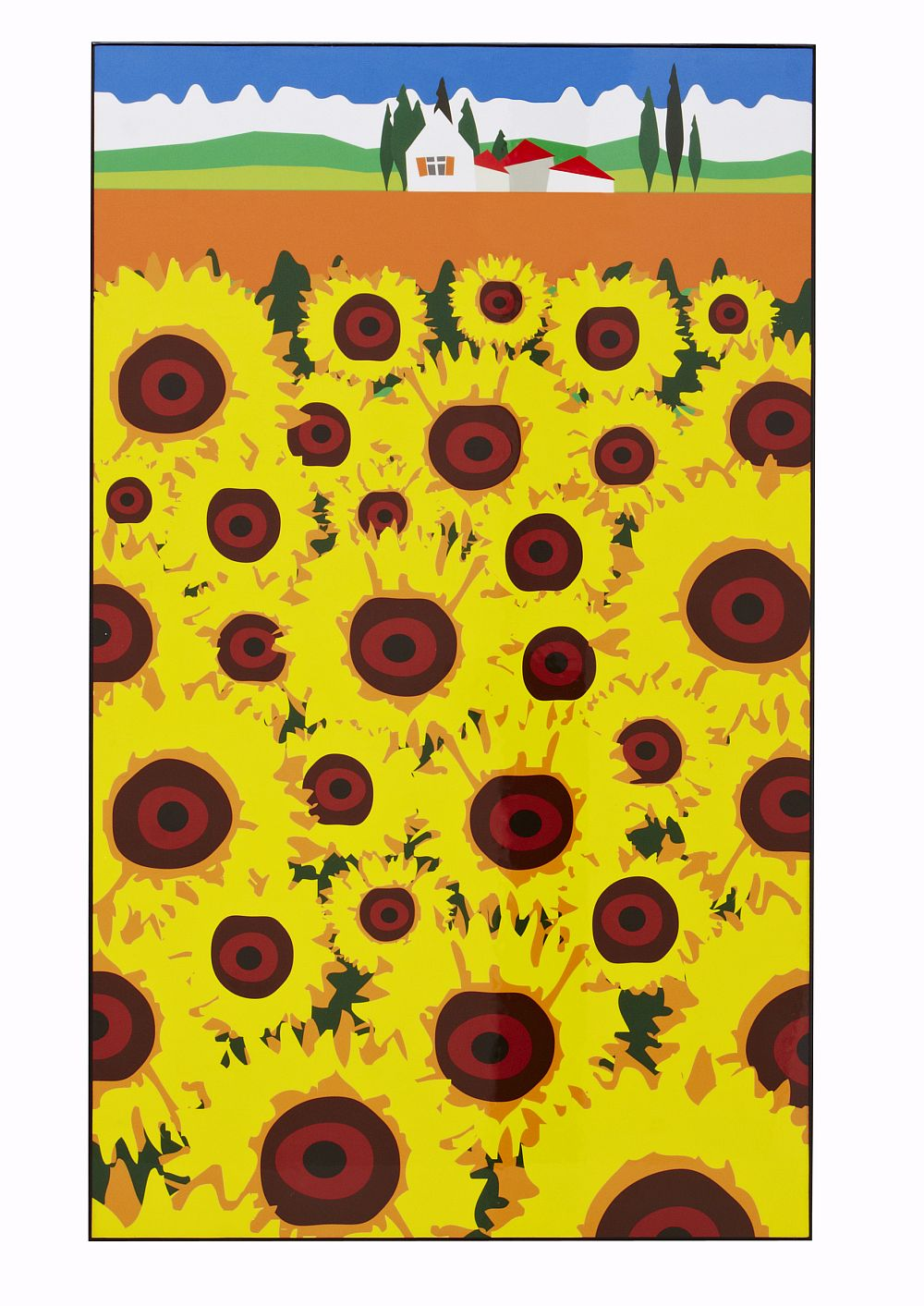 French Sunflowers Lacquer Art Yellow by A Shade Wilder : Brewers Home
