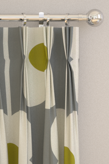 Abacus Flower Olive Pinch Pleat Curtains By Orla Kiely Brewers Home