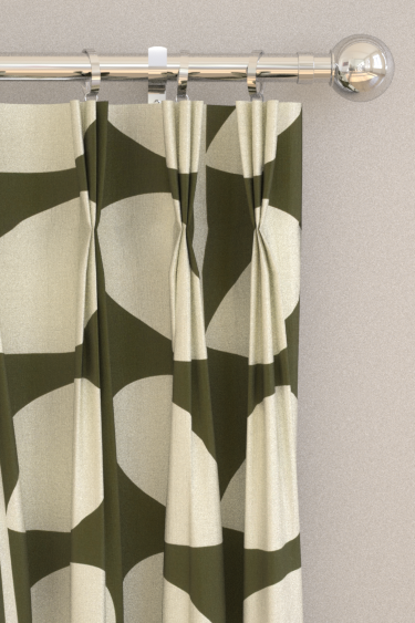 Giant Stem Khaki Pinch Pleat Curtains By Orla Kiely Brewers Home