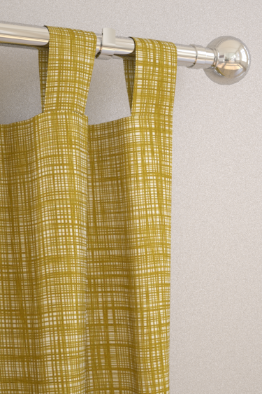 Scribble Olive Tab Top Curtains By Orla Kiely Brewers Home