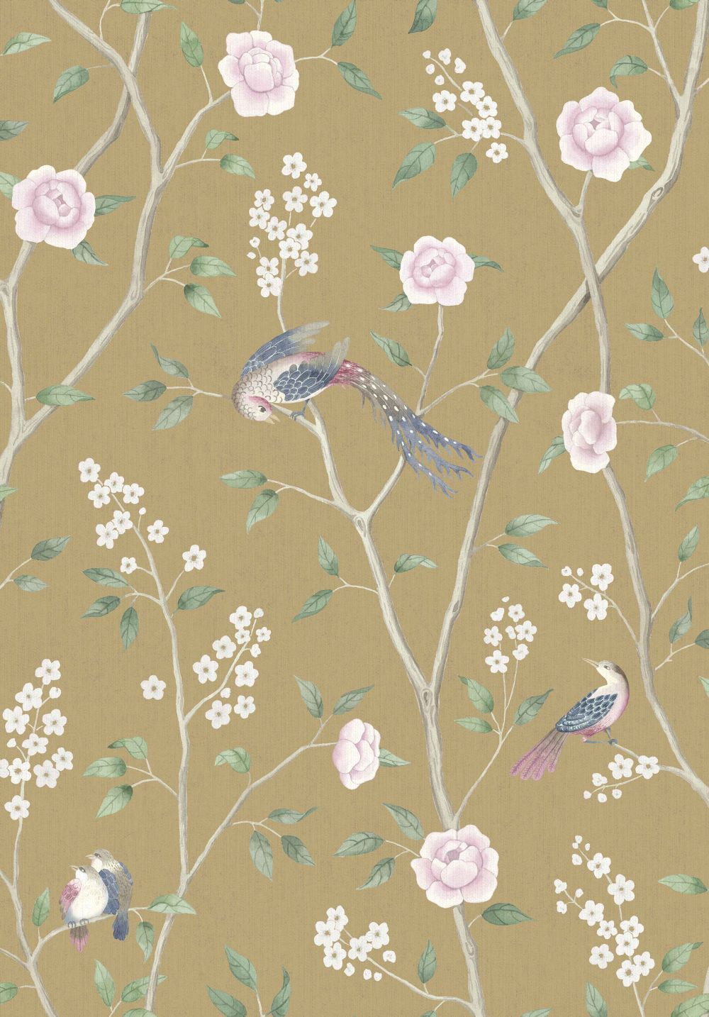 Paradise Birds Yellow By Borastapeter Wallpaper Brewers Home
