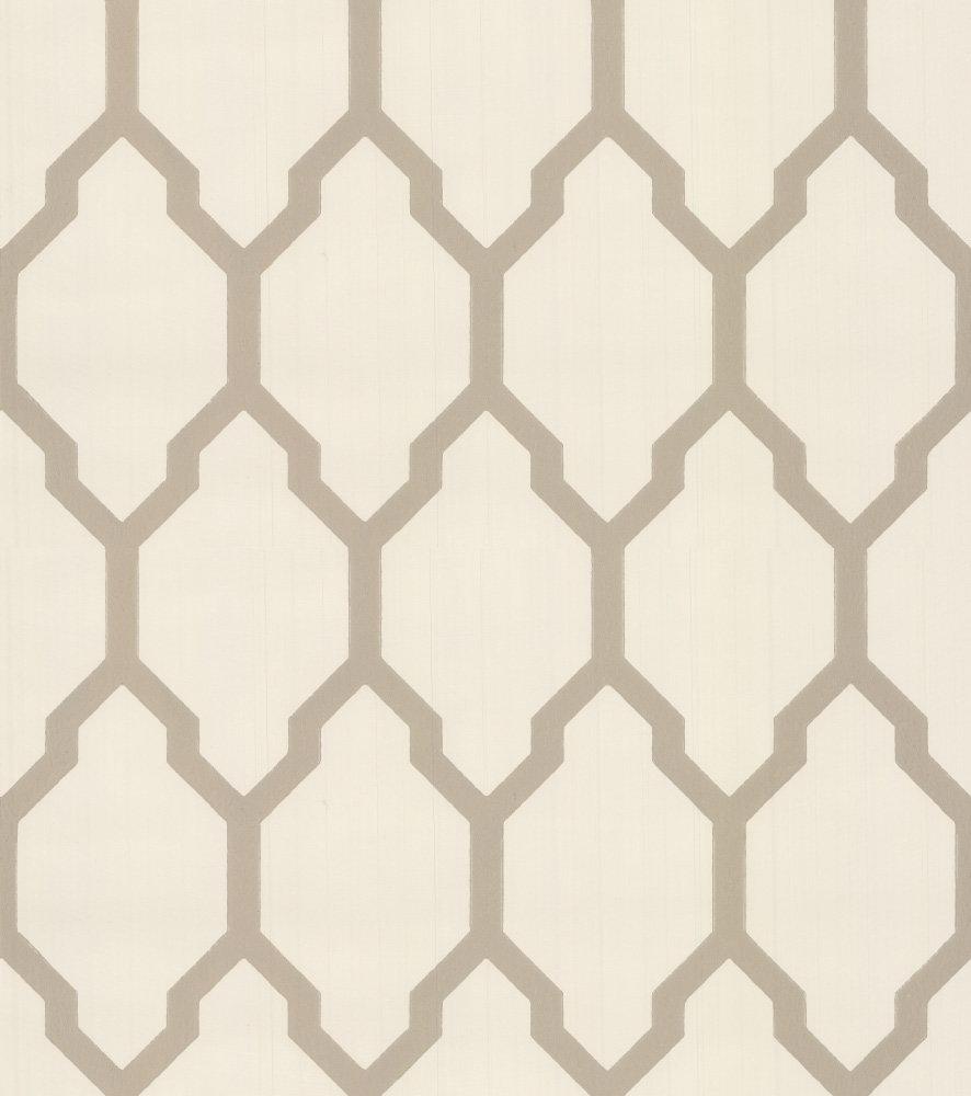 Tessella Cream Gilver By Farrow Ball Wallpaper