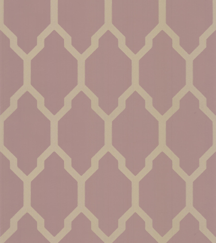 Tessella Pink Gilver By Farrow Ball Wallpaper Brewers Home