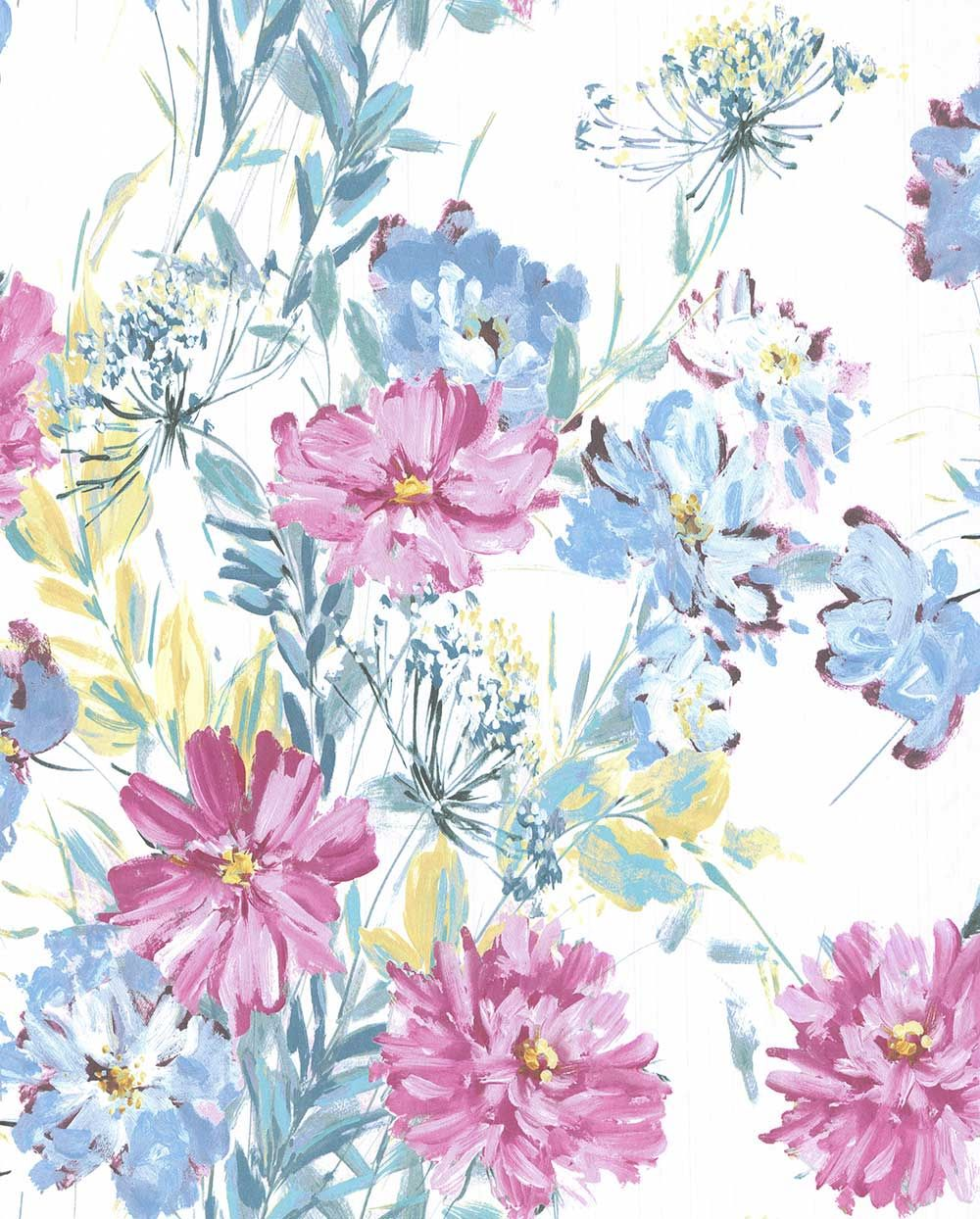 Cosmos Off White Grey Green By Laura Ashley Wallpaper