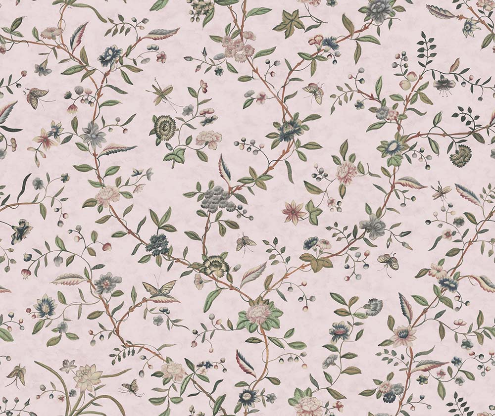Swakeley S Chinoiserie Pinks Green By Hamilton Weston Wallpapers